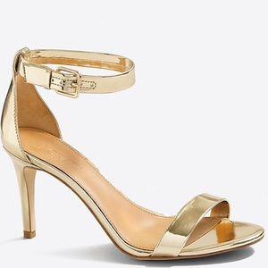 J.Crew Gold Metallic High Heel Sandal